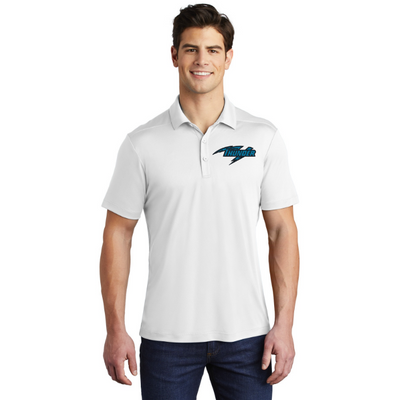 CHARLOTTE THUNDER AAL PERFORMANCE POLO: White