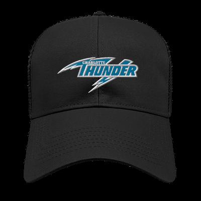 CHARLOTTE THUNDER AAL MESH BACK CAP: BLACK