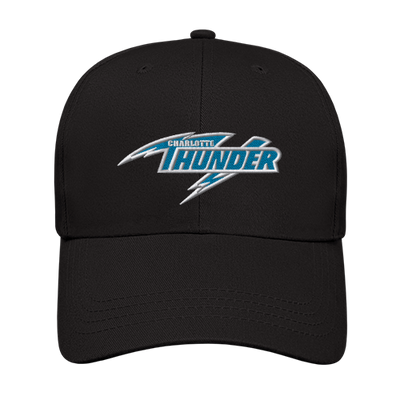 CHARLOTTE THUNDER AAL LOW PROFILE UNSTRUCTURED CAP: BLACK
