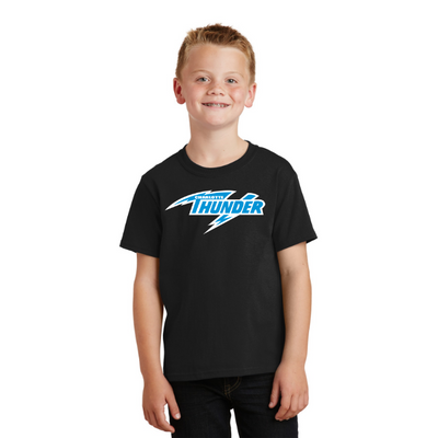 CHARLOTTE THUNDER AAL YOUTH T-SHIRT:  Jet Black