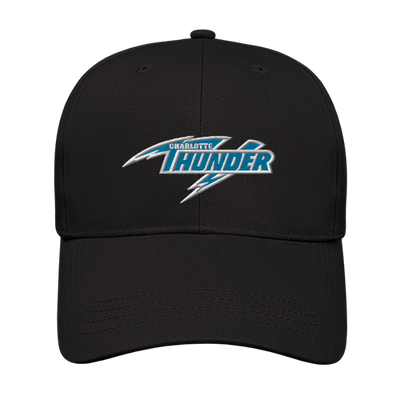 CHARLOTTE THUNDER AAL LOW PROFILE STRUCTURED CAP: BLACK