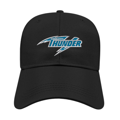 CHARLOTTE THUNDER AAL POLY STRUCTURED CAP: BLACK