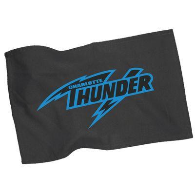 "CHARLOTTE THUNDER 11""x 18"" MICRO-FIBER RALLY TOWEL: BLACK"