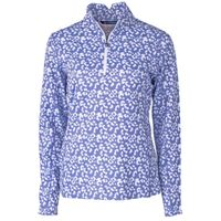 Ladies' Printed Traverse Half-Zip - Hyacinth