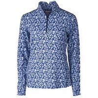 Ladies' Printed Traverse Half-Zip - Indigo