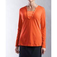 L/S Dulcet Henley - College Orange