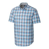 S/S Non-Iron Sebastian Plaid - Poolside