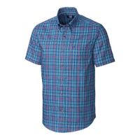 S/S Easy Care Isaac Plaid - Poolside