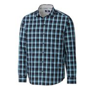 L/S Non-Iron Summerland Plaid - Wisteria