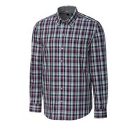 L/S Non-Iron Sawyer Plaid - Aquastone
