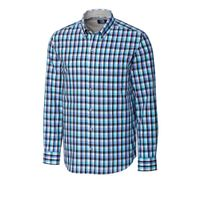 L/S Non-Iron Sawyer Plaid - Wisteria