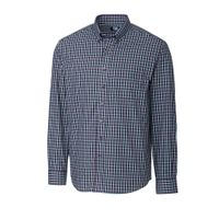 L/S Easy Care Barrett Check - Aquastone