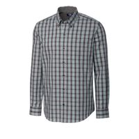 L/S Non-Iron Davis Plaid - Aquastone
