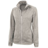 Charles River Women's Heathered Fleece Jacket - Oatmeal Heather