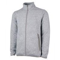 Charles River Men's Heathered Fleece Jacket - Light Grey Heather