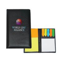Leather Look Padfolio With Sticky Notes & Flags
