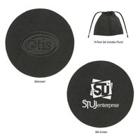 Bonded Leather Coaster (4-Pack Silk-Screen)
