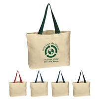 Natural Cotton Canvas Tote Bag (Embroidered)