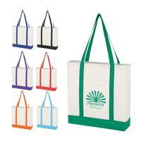 Non-Woven Tote Bag With Trim Colors (Silk-Screen)