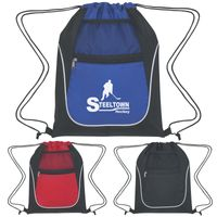 Drawstring Sports Pack With Dual Pockets (Silk-Screen)