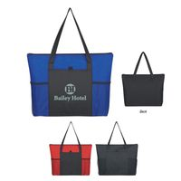 Non-Woven Voyager Zippered Tote Bag (Silk-Screen)