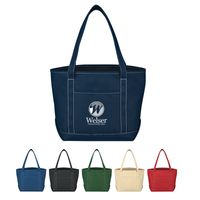 Medium Cotton Canvas Yacht Tote Bag (Embroidered)