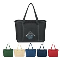 Large Cotton Canvas Yacht Tote Bag (Embroidered)
