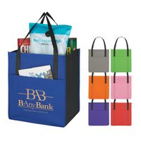 Non-Woven Shopper's Pocket Tote Bag (Silk-Screen)