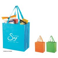 Shiny Laminated Non-Woven Tropic Shopper Tote Bag (Silk-Screen)