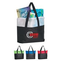 Non-Woven Zippered Tote Bag (Silk-Screen)