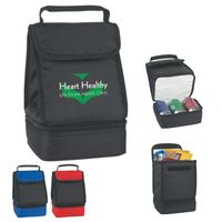 Dual Compartment Lunch Bag (Silk-Screen)