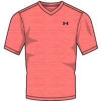 Men's UA Tech VNeck TShirt - Neon Coral