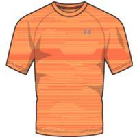 Men's UA Tech Printed Short Sleeve TShirt - Magma Orange