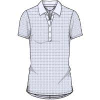 Women's UA Zinger Printed Short Sleeve Polo - White