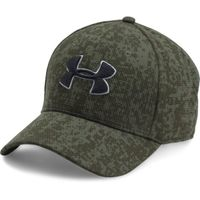 Men's UA Printed Blitzing Stretch Fit Cap - Downtown Green