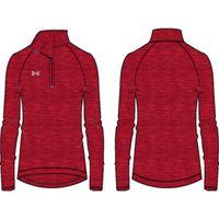 Women's UA Stripe Tech 1/4 Zip - Red