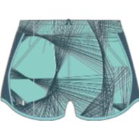 Fly By Printed Short - Tropical Tide