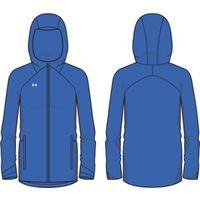UA W's Storm Rain Jacket - Powderkeg Blue