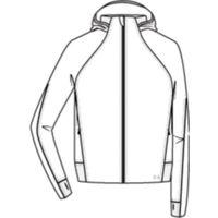 Spacer Full Zip - White