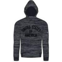 USA Fleece Pull Over Hoodie - Black