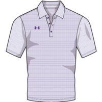 UA M's Raise Stripe Polo - PUR