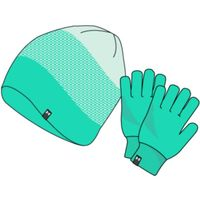 Girls' UA Beanie Glove Combo - Comet Green