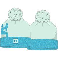Women's UA Big Pom Logo Beanie - Seaglass Blue