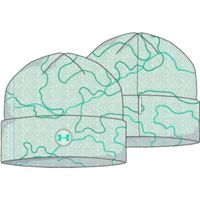 Youth UA Fleece Printed Beanie - Seaglass Blue