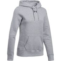 Women's UA Team Rival Fleece Hoodie - True Gray Heather