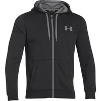 Men's UA Rival Fleece Zip Hoodie - Black