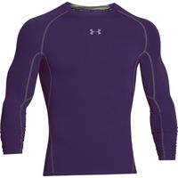 Men's UA HeatGear Armour Long Sleeve Compression Shirt - Purple