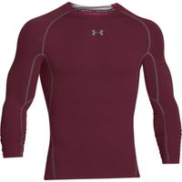 Men's UA HeatGear Armour Long Sleeve Compression Shirt - Maroon