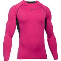 Men's UA HeatGear Armour Long Sleeve Compression Shirt - Tropic Pink