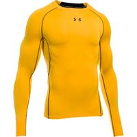 Men's UA HeatGear Armour Long Sleeve Compression Shirt - Steeltown Gold